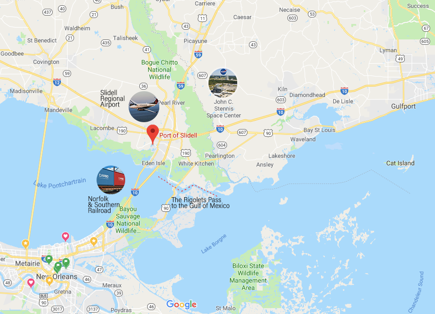 Port of Slidell map overview